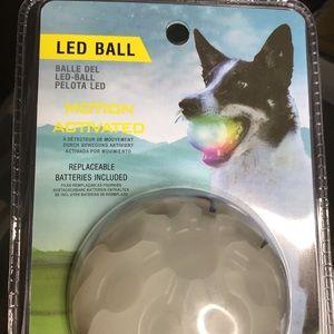 LED Dog Ball, Bounce-Activated Light Up Dog Ball